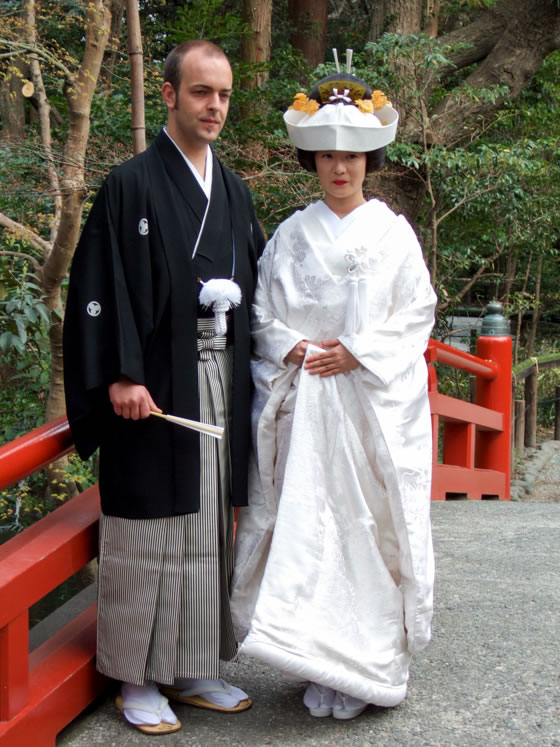 My wife and I had a very traditional Japanese wedding ceremony at the shrine Tsurugaoka Hachiman-gū in Kamakura, Japan