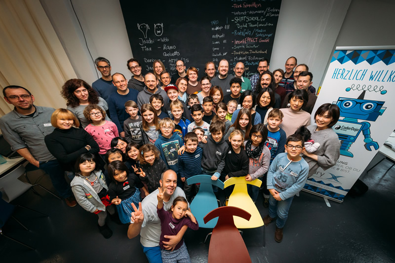 Attendees of the CoderDojo Nürnberg #5