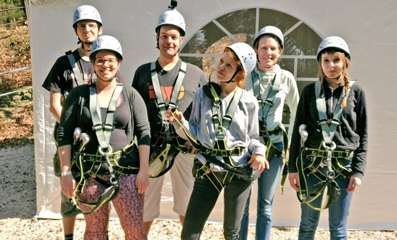The Tollwerk team before its trip through the treetops