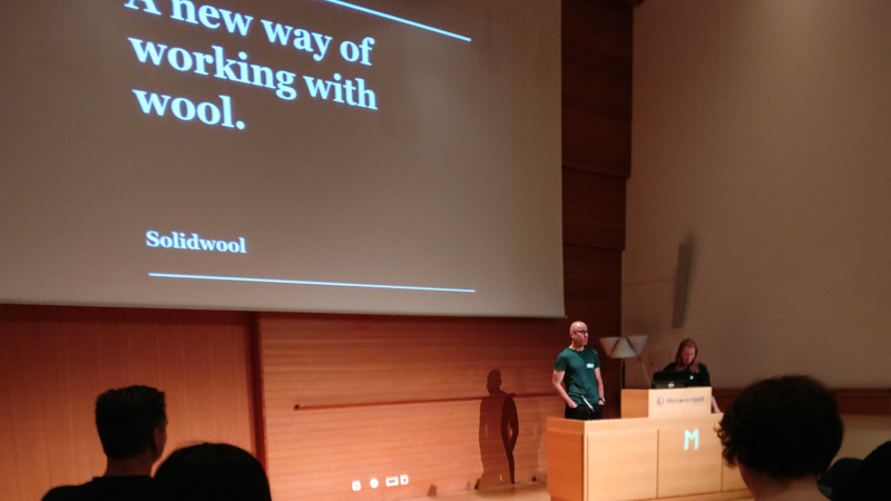 Hannah & Justin Floyd telling the story of Solidwool