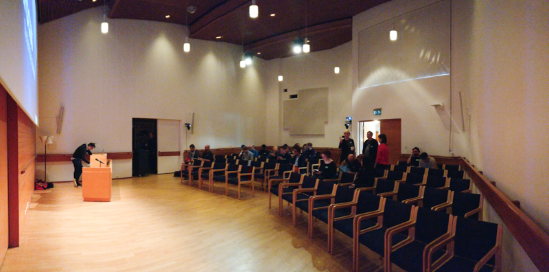 The technically well equipped hall in den Nordic House, Reykjavík