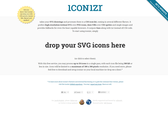 A limited version of iconizr is available online at iconizr.com